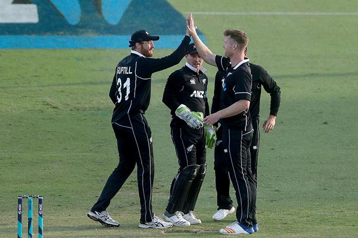 New Zealand Cricketer Neesham picks a wicket