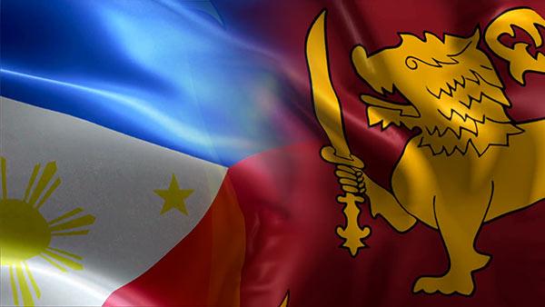 Philippines and Sri Lanka flags