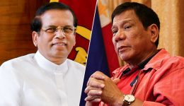 President of Sri Lanka Maithripala Sirisena and President of Philippines Rodrigo Duterte