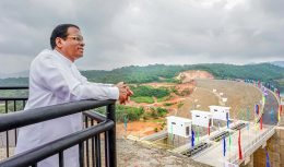 Sri Lanka President Maithripala Sirisena commission the Kaluganga reservoir