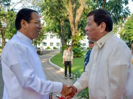 President of Sri Lanka Maithripala Sirisena met President of the Philippines Rodrigo Duterte
