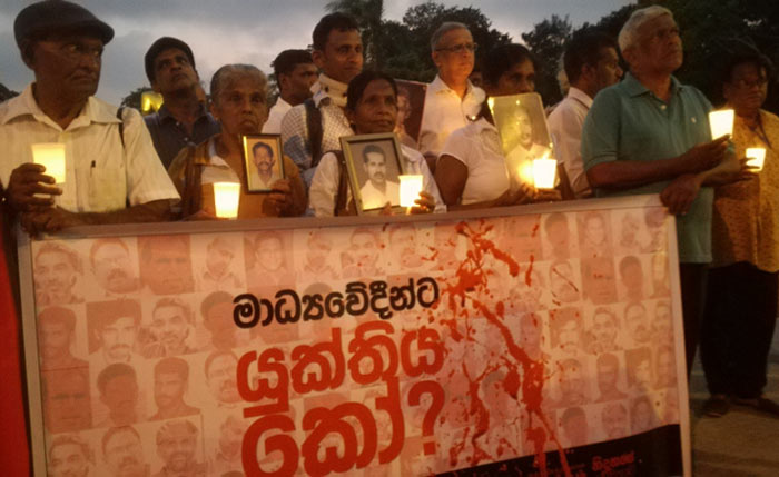 Sri Lankans demand justice for slain, abducted journalists