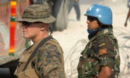 UN peacekeepers from Sri Lanka