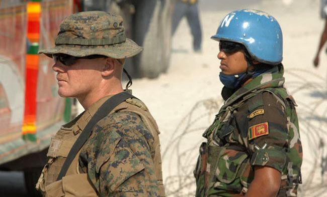 UN peacekeepers from Sri Lanka