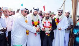 United Arab Emirates donates 120 houses to displaced Sri Lankan Smahmoud Fatali Al Khajeh with Rishad Bathiudeen