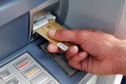 ATM machine user
