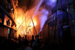 Bangladesh building fire in Dhaka