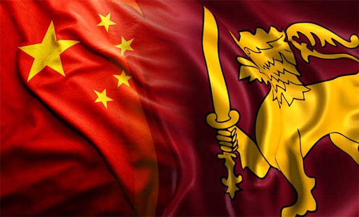 China Sri Lanka flags