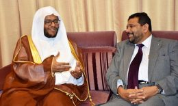 Dr. Ahmed Hamad Jilan with Azath S. Salley