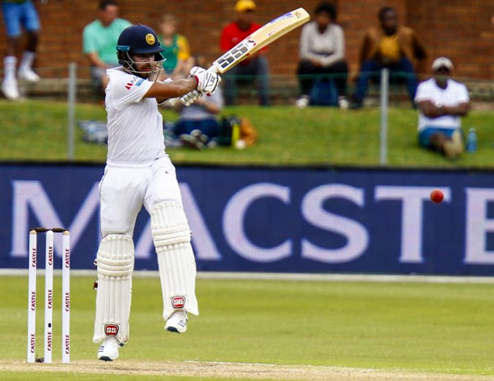 Kusal Mendis plays cricket shot