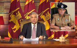 Sri Lanka Prime Minister Ranil Wickremesinghe and STF DIG M.R. Latiff