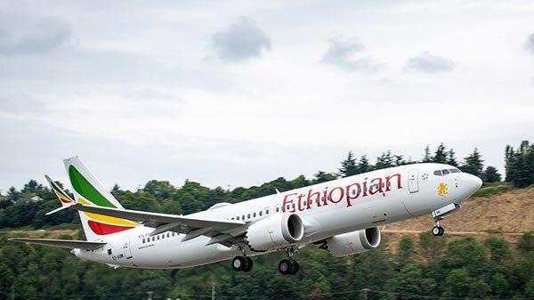 Ethiopian Boeing 737 plane