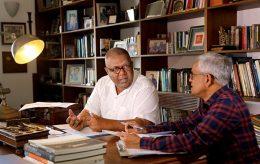 Finalizing the budget 2019 by Mangala Samaraweera with R.H.S. Samaratunga