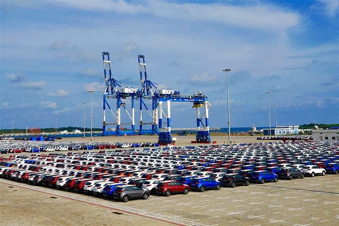 Hambantota port in Sri Lanka