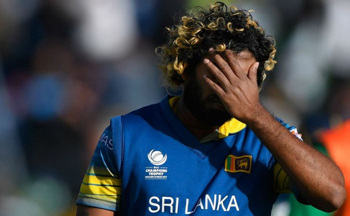 Lasith Malinga frustrated