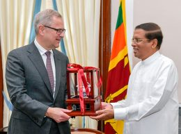 Maerk's Chief Executive Officer Soren Skou called on Sri Lanka President Maithripala Sirisena