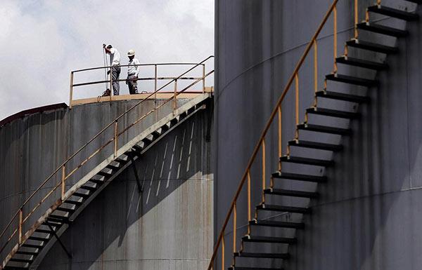 Sapugaskanda oil refinery in Colombo Sri Lanka