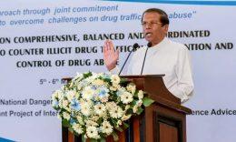 Sri Lanka President Maithripala Sirisena on eradicating and controlling illicit drugs