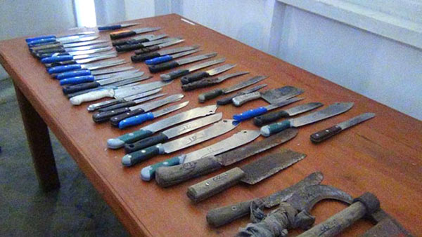 49 knives recovered from mosque in Maskeliya Sri Lanka
