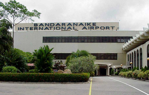 Bandaranaike International Airport in Sri Lanka