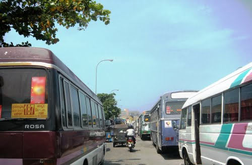 Bus station in Colombo Fort