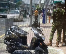 Controlled explosion near Savoy theatre in Wellawatte Sri Lanka