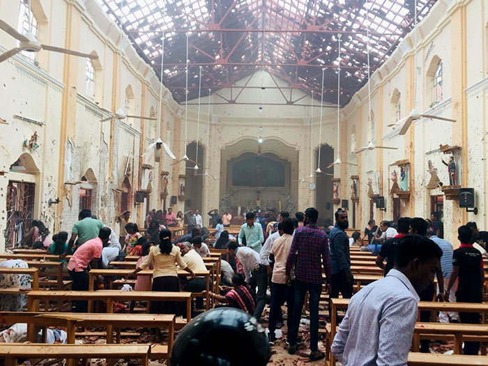Explosion at Katana Katuwapitiya church