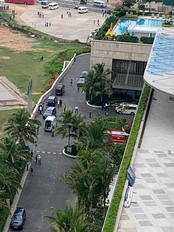 Explotions inside hotels in Colombo Sri Lanka