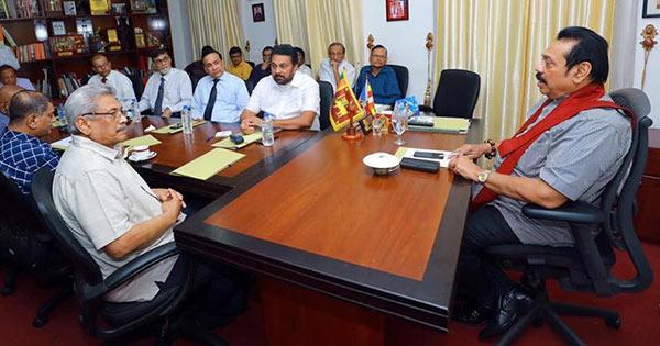 Gotabaya Rajapaksa and Mahinda Rajapaksa