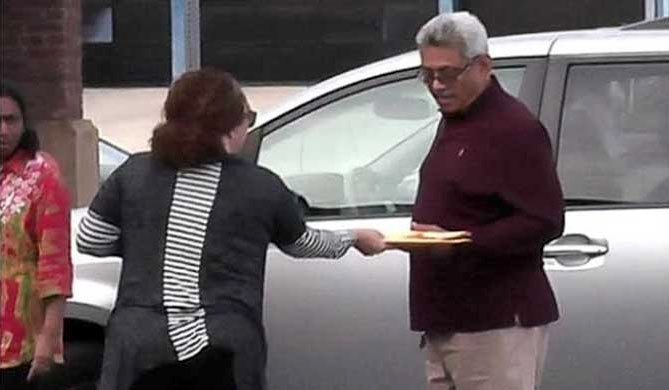 The moment of Court notice was handed over to Gotabaya Rajapaksa
