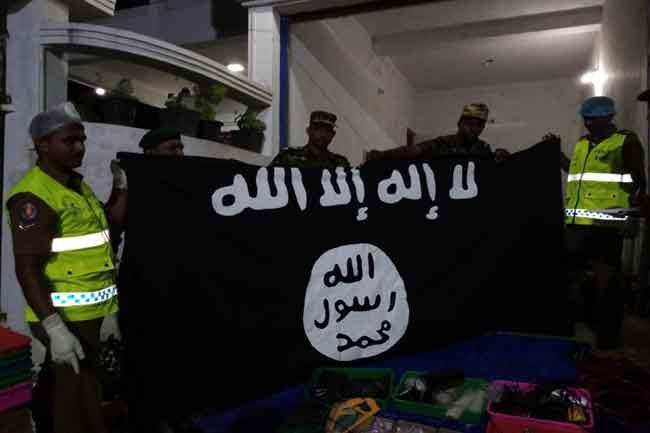Islamic state ISIS banner found in Samanthurai Ampara Sri Lanka