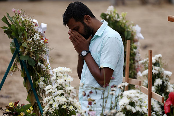 A relative of a victim of easter attacks in Sri Lanka