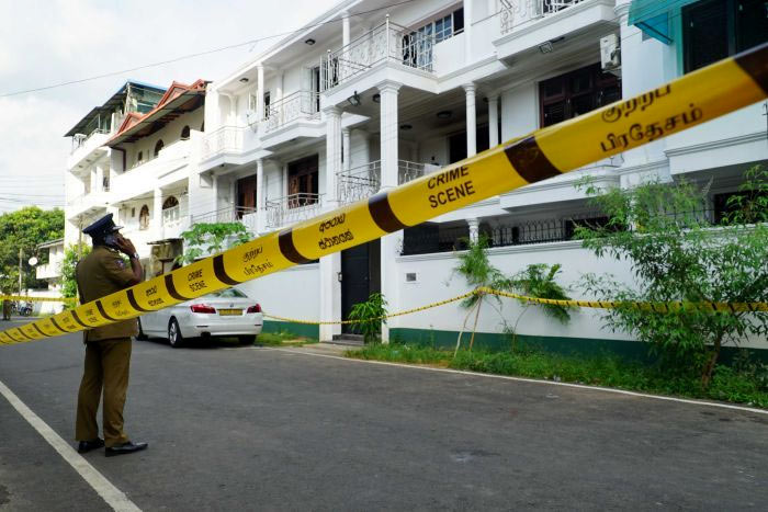 Residence of suicide bombers in Dematagoda Sri Lanka
