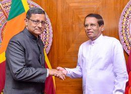 Sanjay Mitra with Sri Lanka President Maithripala Sirisena
