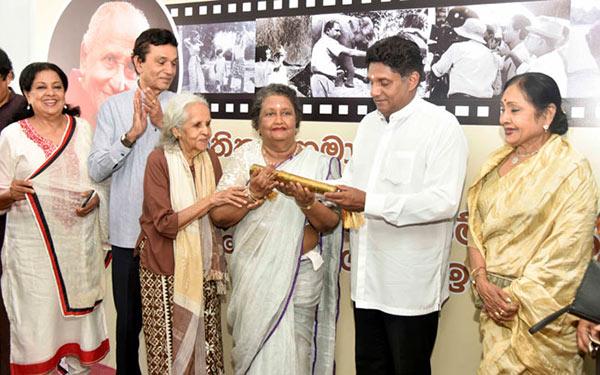 Sri Lanka movie artists with Sajith Premadasa