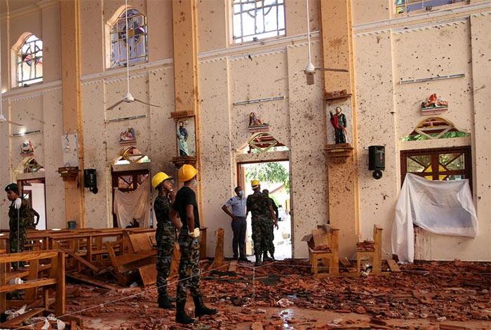 St. Sebastian Catholic church in Negombo Sri Lanka after the bomb blast