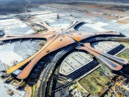 "World's largest airport ""Starfish"" in China"