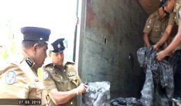1116 military camouflage uniforms discovered at Seeduwa Sri Lanka