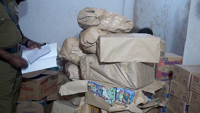 700 kg of gunpowder found inside shop at Mawanella Sri Lanka