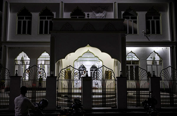 A mosque is seen at Center for Islamic Guidance in Kattankudy Sri Lanka