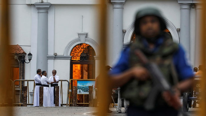 Church under the security after Easter Sunday bomb attacks in Sri Lanka