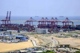 Colombo port in Sri Lanka