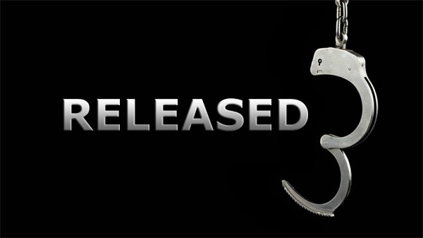 Handcuffs released
