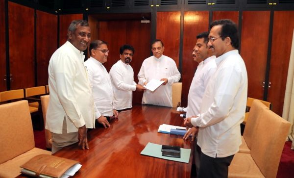 JVP hands over no-confidence motion against government