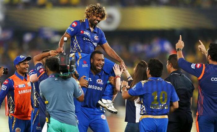 Lasith Malinga after IPL final win