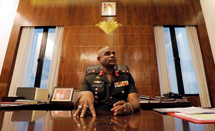 Sri Lanka's Army commander Mahesh Senanayake