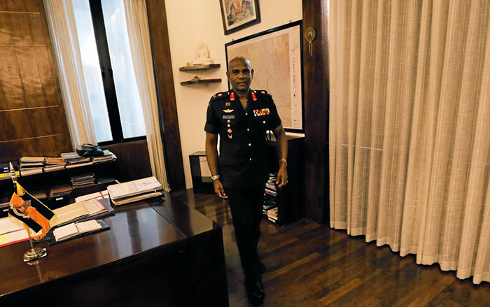 Sri Lanka army commander Mahesh Senanayake