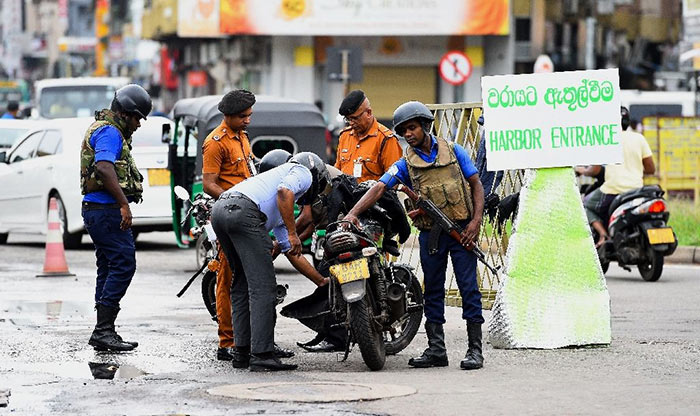 Search operations by security forces in Sri Lanka