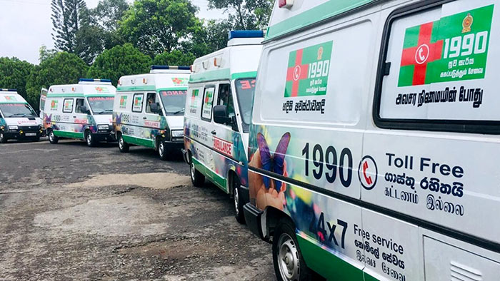 1990 Suwaseriya ambulance service in Sri Lanka