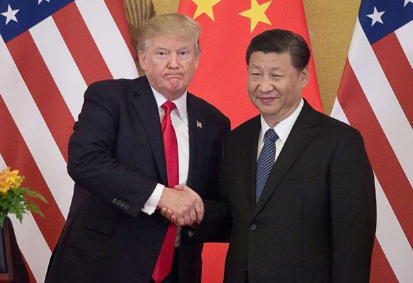 Donald Trump with Xi Jinping